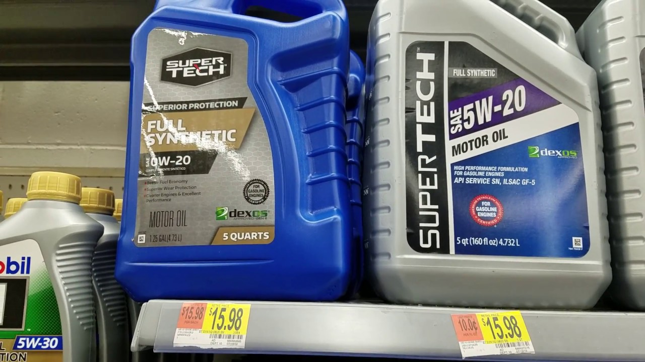 5w20 Vs 5w30 >> New Cheaper SuperTech Full Synthetic Motor Oil at Walmart, 0w20, 5w30 High Mileage Oil (Blue ...