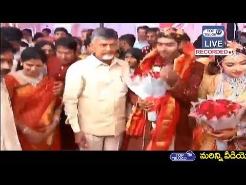 Chandrababu at Ramoji Rao Granddaughter Marriage  Pawan Kalyan  Top Telugu TV