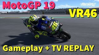 MotoGP 19 | First Gameplay | Valentino Rossi | AI 120% | Q + Race + TV REPLAY