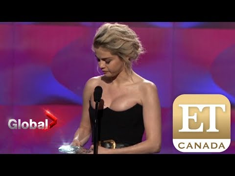 Selena Gomezs Emotional Billboard Speech  ET Canada