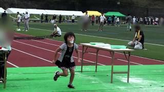 【市民体育祭】☆お化粧ゲーム☆網をくぐったり、飴食い競争で顔が真っ白(...