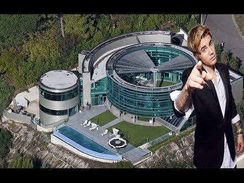 Justin bieber new glass house tour inside and outside 2017