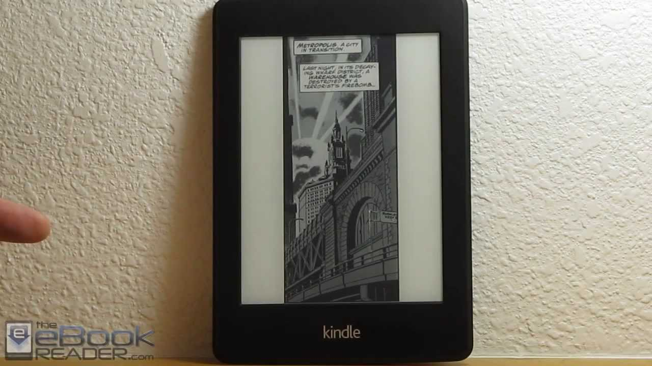 Kindle Paperwhite 2 Comics Review - Kindle Panel View