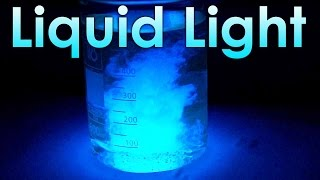 Liquid Light - Chemical Reaction with Luminol