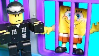 Imaginext Spongebob SquarePants Goes To Jail Roblox con guanto mondo finta di Patrick giocare