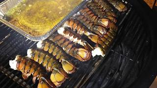 Pecan Smoked Lobster Tails With Italian Garlic Butter Sauce