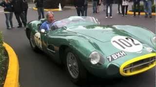 1957 aston martin dbr2 race car drive by