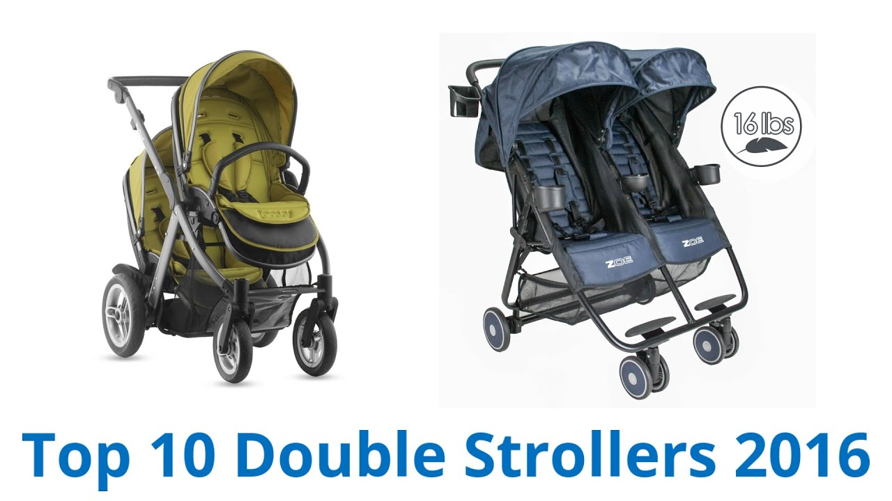 10 Best Double Strollers 2016 - YouTube