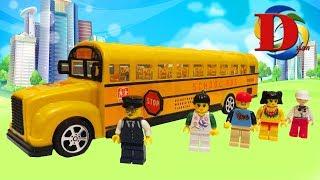 Открываем игрушки машинки. Школьный автобус Туристический автобус Троллейбус Обзор игрушки Мультики