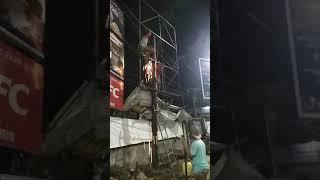 Proses bembangunan konstruksi billboard ukuran 3m X 4m X 1 sisi. Park 2