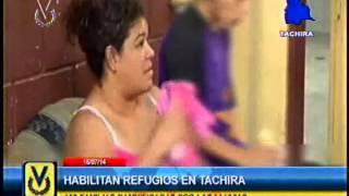 Habilitan refugios en Táchira tras fuertes lluvias