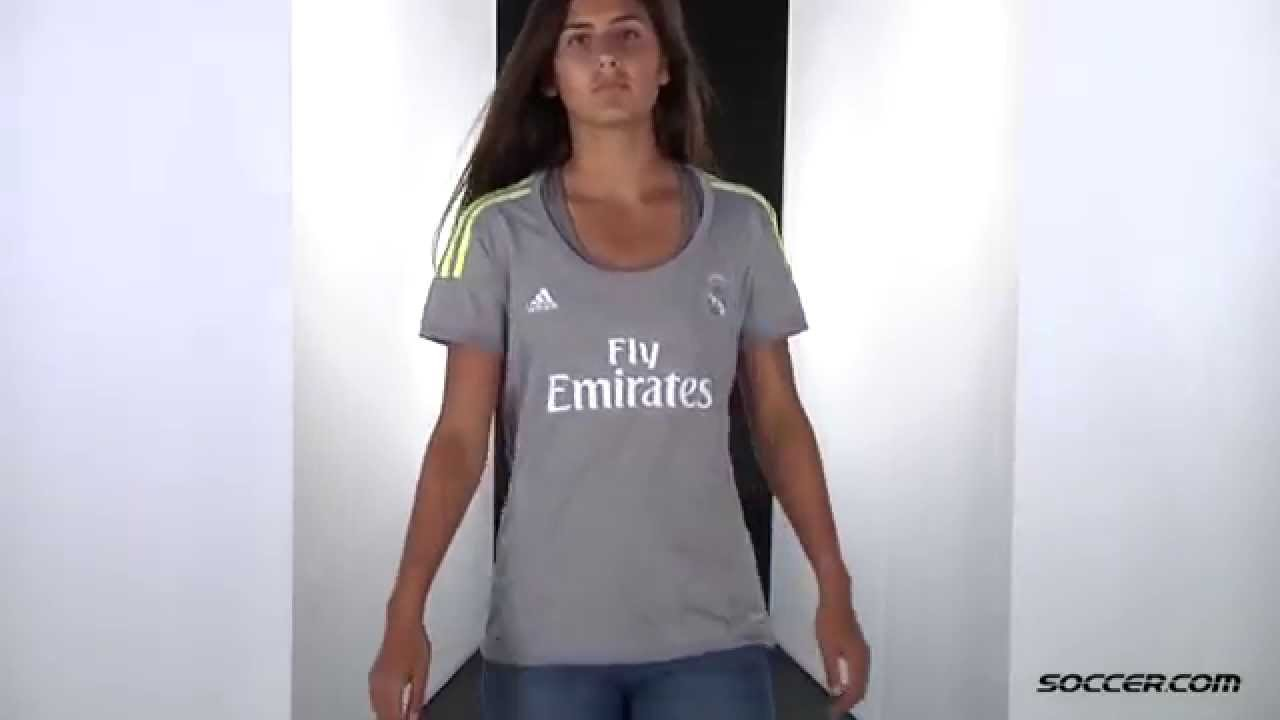 adidas Real Madrid Women s Away Jersey 15 16 - YouTube c5308504d