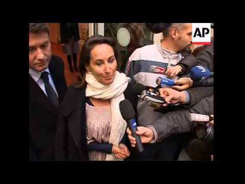 Segolene Royal reaction to defeat in leadership election