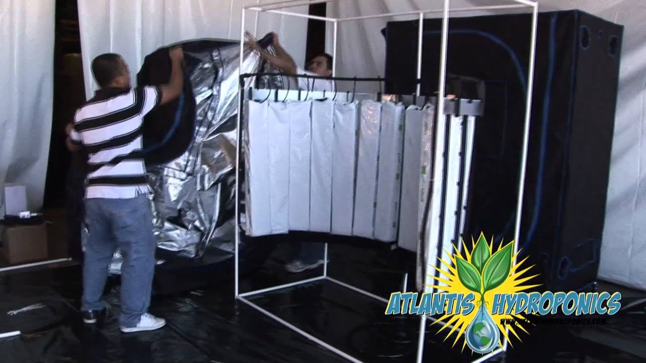 Vertical Hydroponic System Amp Grow Room Kit Setup Youtube