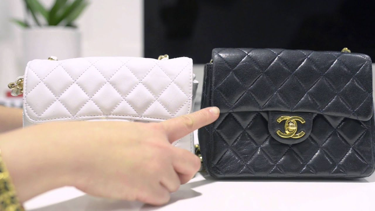 a4c91c50216c chanel fake vs real 7 inch bag - YouTube