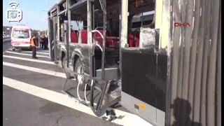 Yenibosna'da iki metrobüs çarpıştı