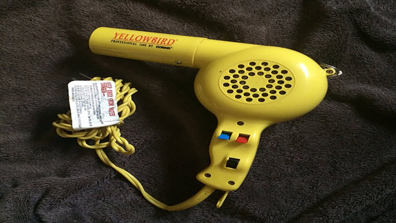 Conair Yellow Bird Blow Dryer With Comb Review 1875 Watts