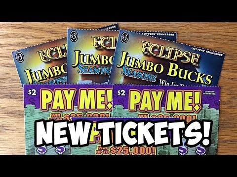 $WIN$ New Tickets! PAY ME! + ECLIPSE Jumbo Bucks Tennessee Lottery Scratch Off Tickets