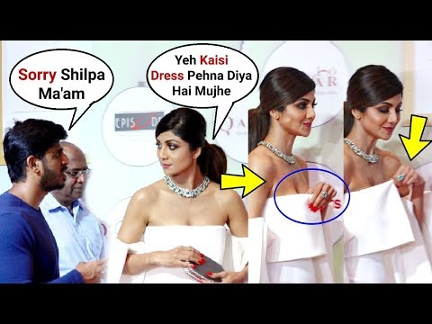 Shilpa Shetty Angry On Her Stylish For Making Her Wear Uncomfortable Dress At Geospa Awards 2019