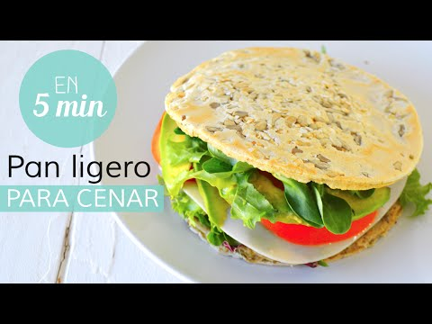 Pan ligero y saludable en menos de 5 min | CENAS SALUDABLES