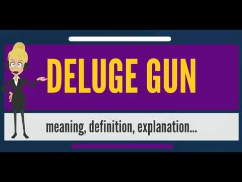 What is DELUGE GUN? What does DELUGE GUN mean? DELUGE GUN meaning, definition & explanation