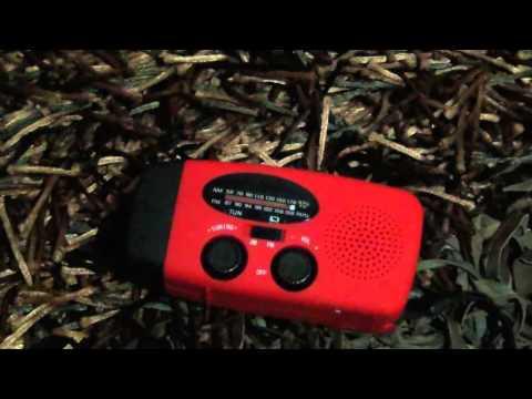 Solar Powered Hand Crank Radio, Light, Phone Charger - Prepping Supplies Australia