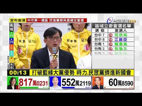 打破藍綠大黨優勢 時力、民眾黨擠進新國會