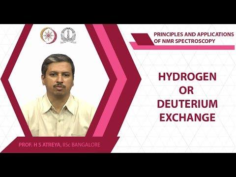 Hydrogen or deuterium exchange