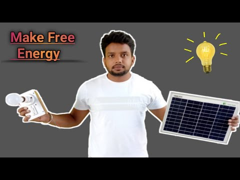 Make Free Energy Led Light Bulb | Unboxing Loom Solar Panel