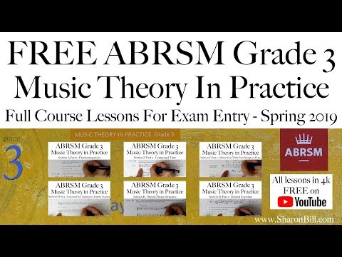 ABRSM Music Theory Grade 3 Lessons For Exam Entry With Sharon Bill