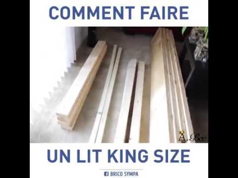 fabriquer un lit king size tr s facilement et pas cher youtube. Black Bedroom Furniture Sets. Home Design Ideas