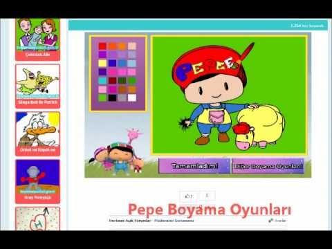 Pepe Boyama Oyunları Wwwboyamaoyunlarigentr Youtube