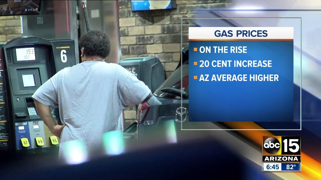 Gas Prices In Arizona >> Gas Prices On The Rise In Arizona