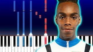 YNW Melly - No Heart (Piano Tutorial)