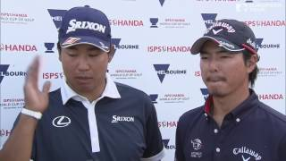 2016 ISPS HANDA World Cup of Golf - Team Japan Rd 3 Best shots & ...