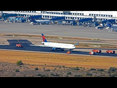 Delta Airlines Aibus A330 emergency landing Athens 26/9/2021