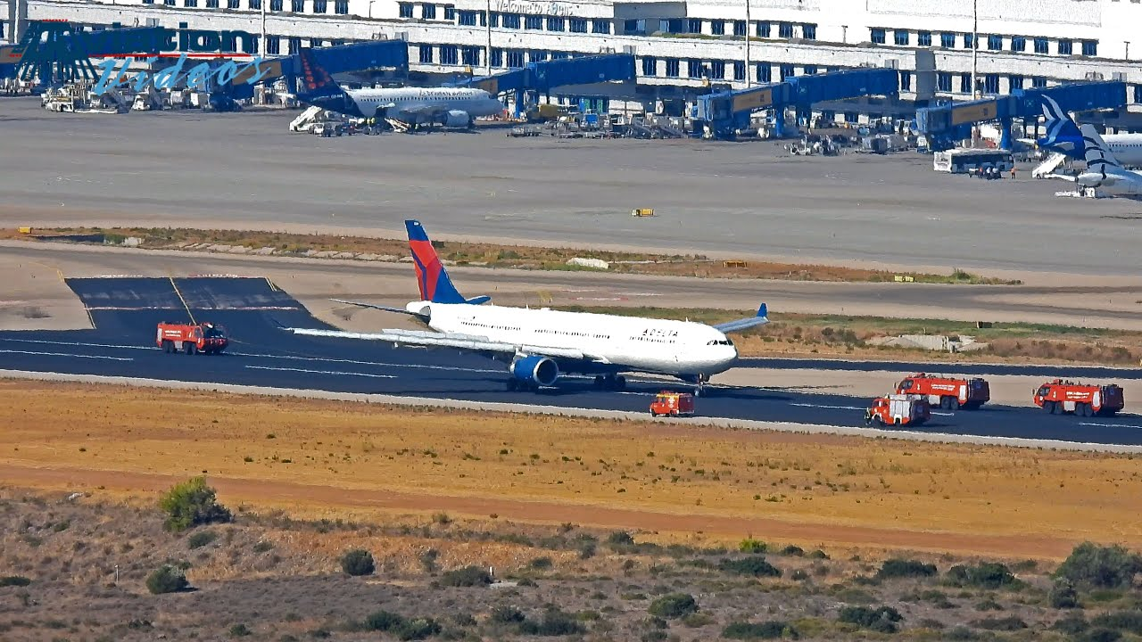 Download Delta Airlines Aibus A330 emergency landing Athens 26/9/2021