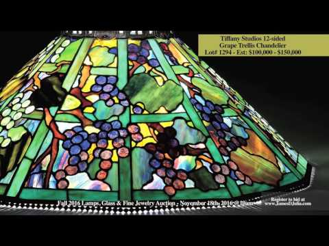 Extraordinary Tiffany Studios Lighting - November 2016 Lamps, Glass & Fine Jewelry Auction