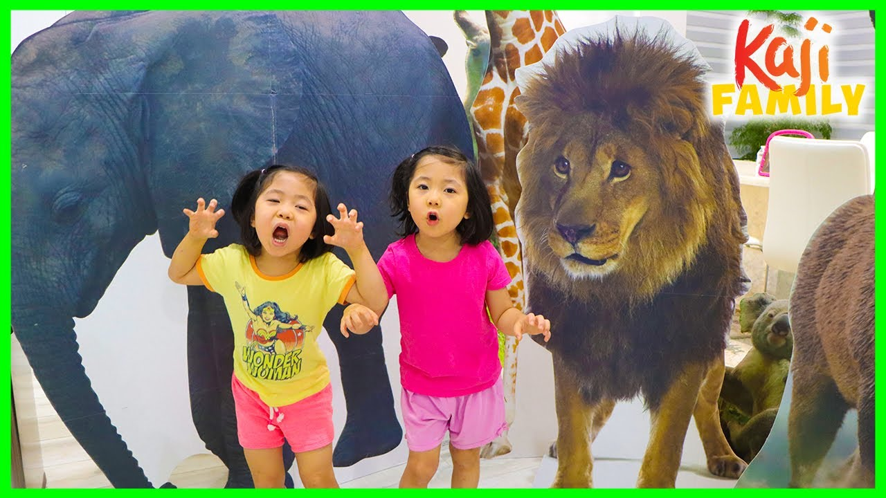 Emma and Kate learn about animals in the house with fun animal facts!!!