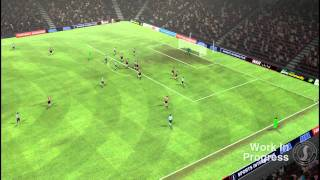 Football Manager 2012 match engine gameplay video