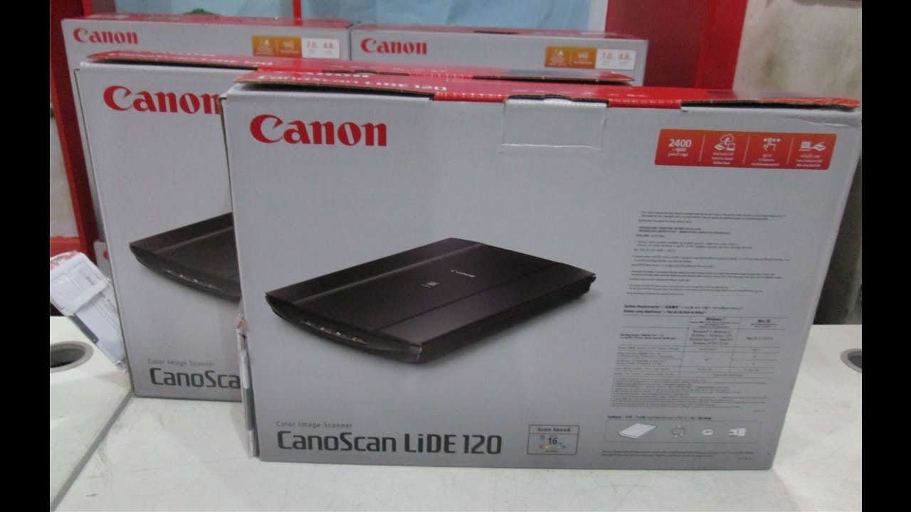 Canon Canoscan LiDe 120 Scanner unboxing!