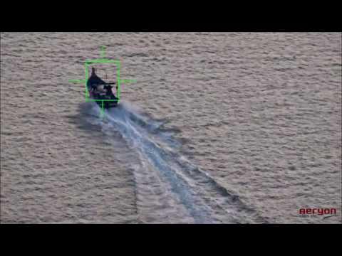 Aeryon SkyRanger tracking boat