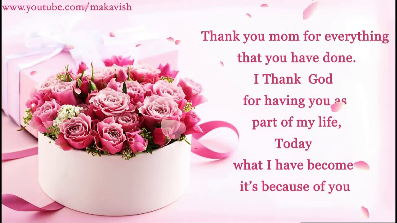 V Mother's Day Happy Mother's Day Wis...
