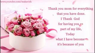 Happy Mother's Day Wishes / I Love You Mom