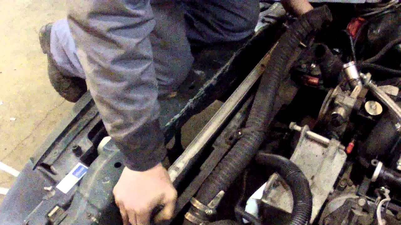 how to change a radiator on a jeeptj
