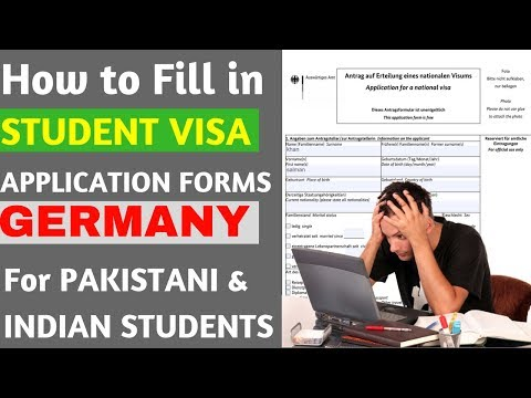 How to fill in Student Visa Application Form for Germany | German Visa Application