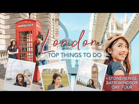 TOP 24 THINGS TO DO IN LONDON + STONEHENGE, WINDSOR, BATH Day Trip | Travel Guide | Sophie Ramos