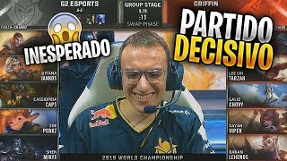 El PARTIDO QUE DECIDE el 1r CLASIFICADO del GRUPO!! | G2 vs GRF | Worlds Highlights Español