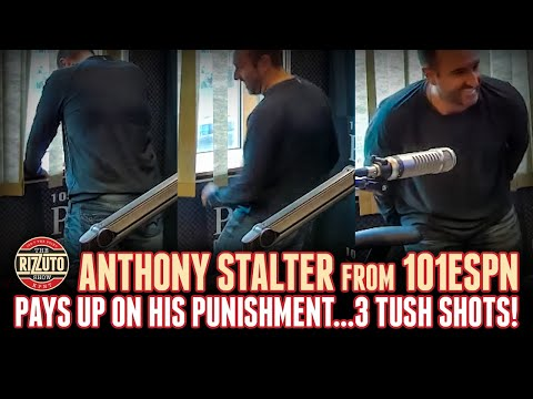 Anthony Stalter talks Tom Brady rumors, pays up on his punishment...3 tush shots [Rizzuto Show]