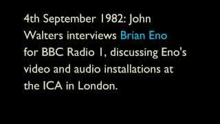 John Walters interviews Brian Eno in 1982